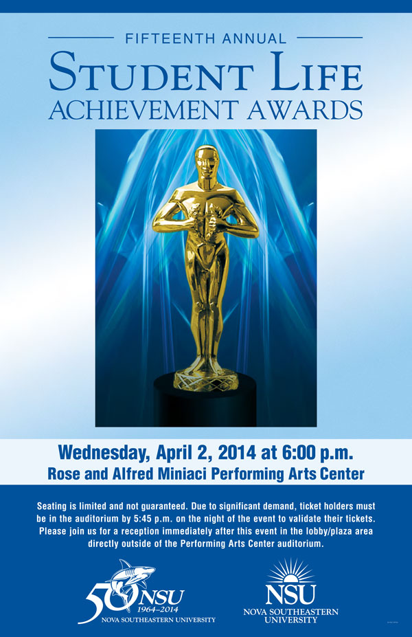 the 15th Annual Student Life Achievement Awards