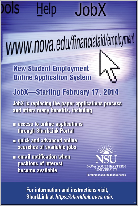 new student employment application system jobx go live nsu sharkfins