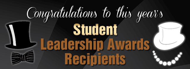 Student Leadership Awards Recipients
