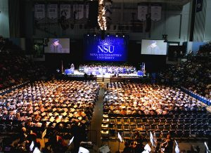 NSU's Health Professions Division Commencement at the Don Taft University Center Arena included degree candidates from NSU's College of Health Care Sciences (except physical therapy), and College of Nursing