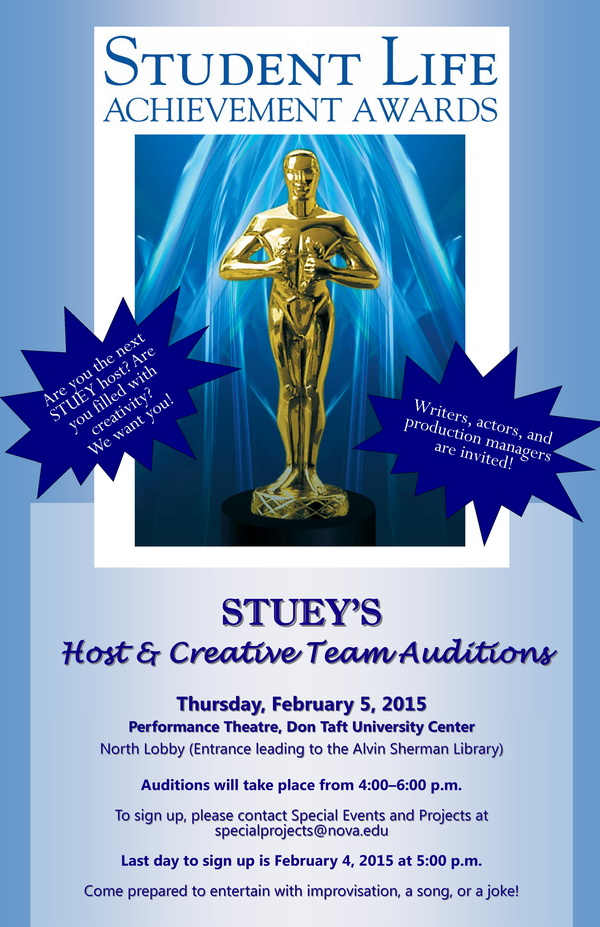 Stueys Host Auditions