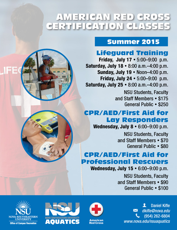 American Red Cross Certified courses