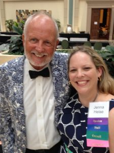 Scott Poland, Ed.D. (left) with Jenna Heise, suicide prevention coordinator for Texas.