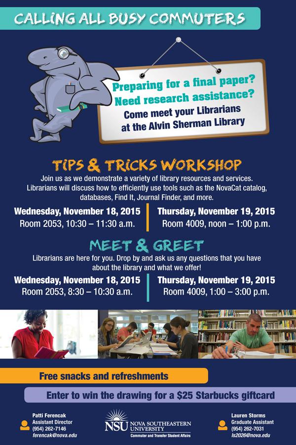 Commuter Library Workshop