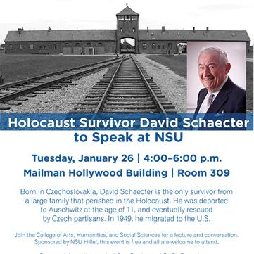 Holocaust Survivor David Schaecter