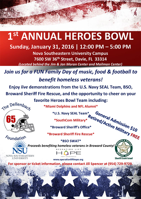 First Annual Heroes Bowl Football Game