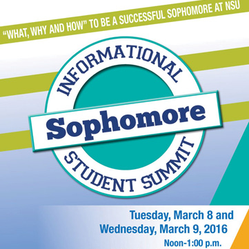 Sophomore Informational Student Summit