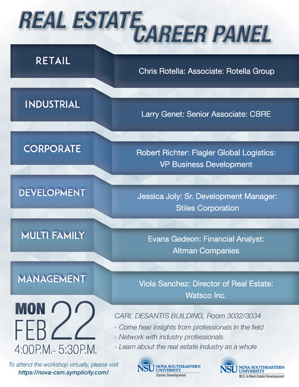 Real Estate Career Panel