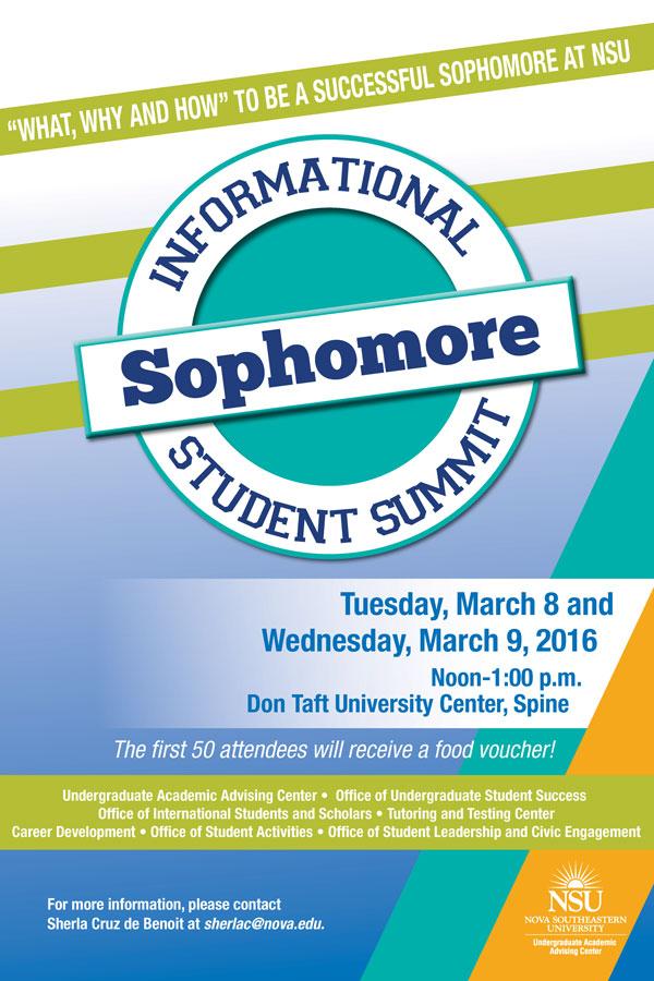 Sophomore Informational Student Summit
