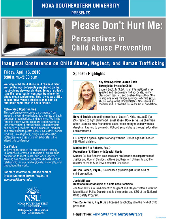 Inaugural Conference on Child Abuse, Neglect, and Human Trafficking