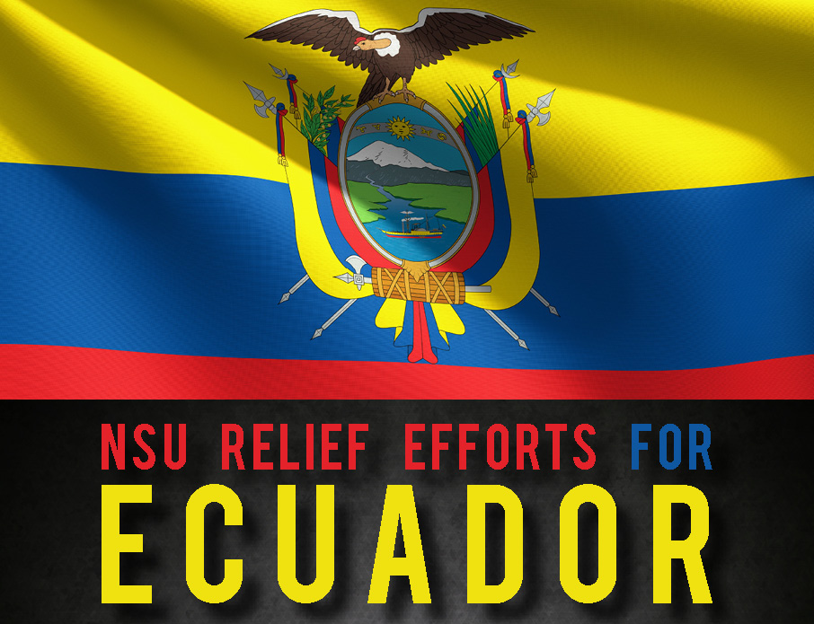 NSU Relief Efforts, Ecuador