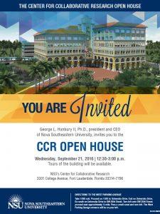 NSU CCR Open House
