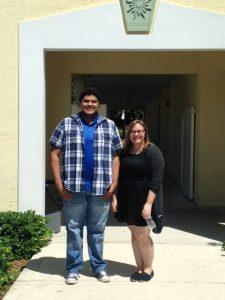 Aiden Rivas and Carli Lutz