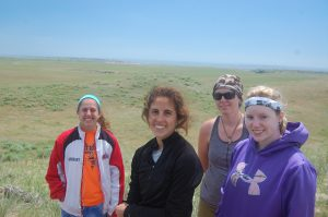 The Badlands working group for 2016. student division. Quinn Burkhart, Victoria Pecci (NSU), Maraina Miles (SRU), and KT (SRU).