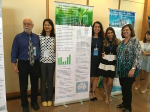 Jim Hibel, Ph.D., Pei-Fen Li, Ph.D., and Tommie Boyd, Ph.D., with students Victoria Repp and Elizabeth Jarquin