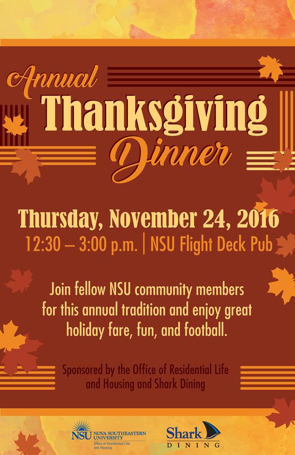 Thanksgiving Dinner Housing