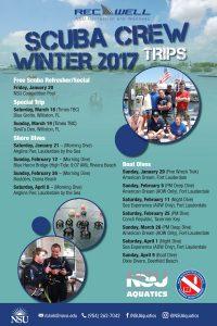 Scuba Crew Trips Winter 2017