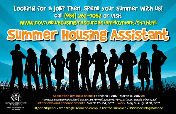 Summer Housing Assistant