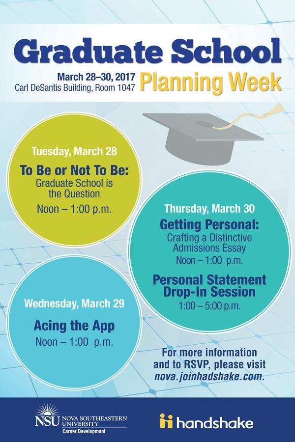 Graduate Schoo Planning Week