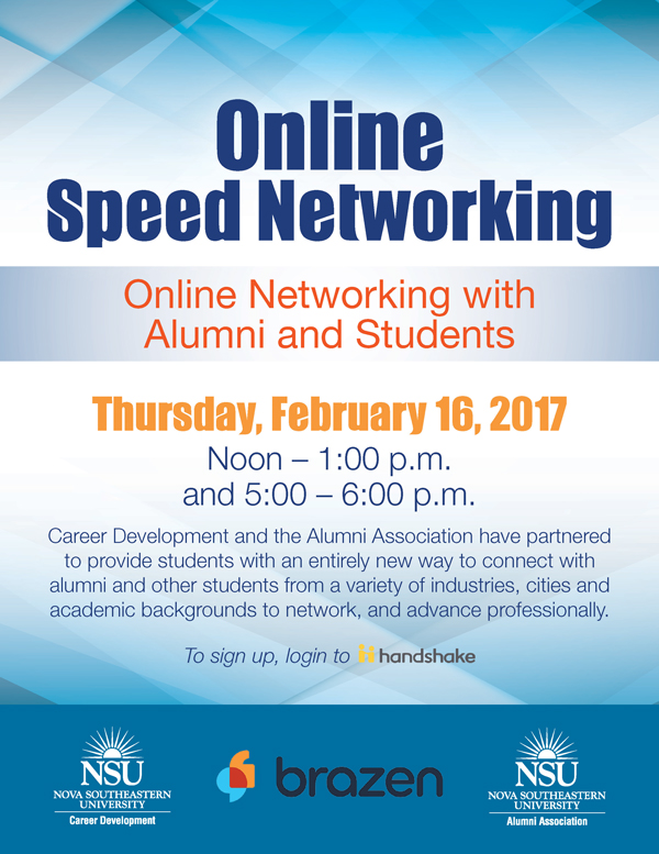 Online Speed Networking With Alumni