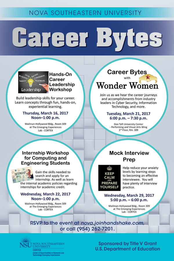 Career Bytes, March Events – NSU SharkFINS
