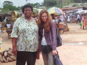 Joyce Avotri-Wuaku, Ph.D., and Eileen Smith-Cavros, Ph.D. in Ghana