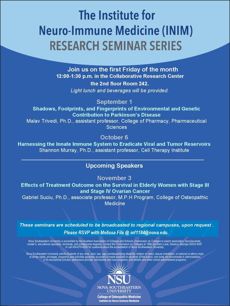 INIM Seminar Flyer Sept 2017