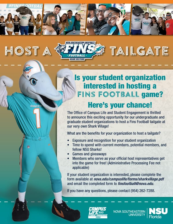 Host a Fins Football Game Tailgate