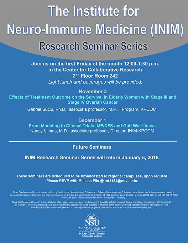 NSU Institute for Neuro-Immune Medicine Hosts Monthly