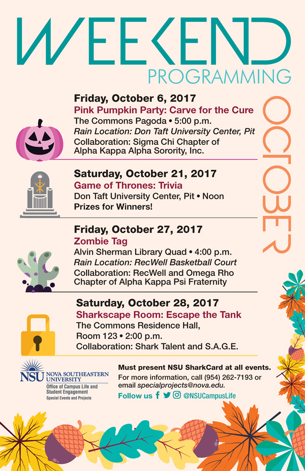 Weekend Programming October 2017
