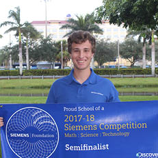 NSU University School Senior Named Semi- Finalist in Siemens Competition in Math, Science and Technology
