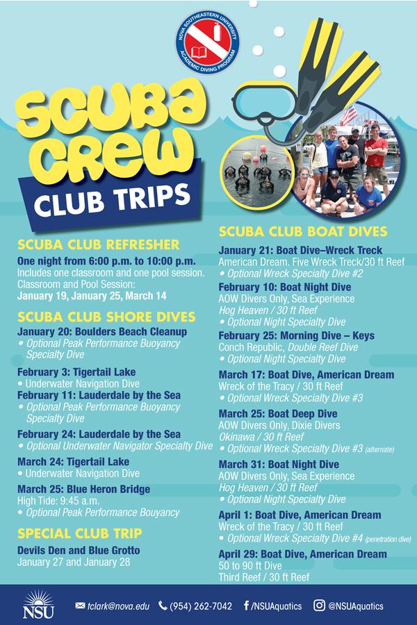 Scuba Crew Club Trips