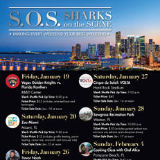 Sharks on the Scene (S.O.S) Discounted Tickets – Next Event: Jan. 26