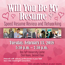 Will You Be My Résumé? Speed Resume Review and Networking (Feb. 13)