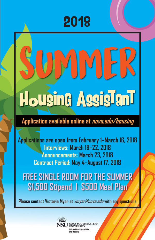 Summer Housing Assistant