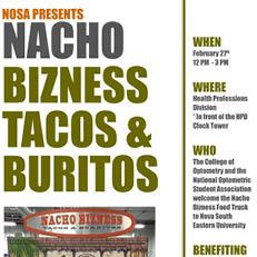 NOSA Presents: Nacho Bizness Tacos & Burritos Feb. 27