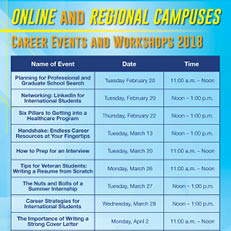 Online and Regional Career Events