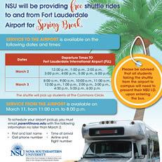Shuttle Rides Spring Break