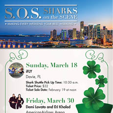 Sharks on the Scene (S.O.S) Discounted Tickets – Mar. 30