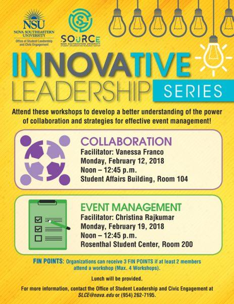 InNOVAtive Leadership Series February 2018