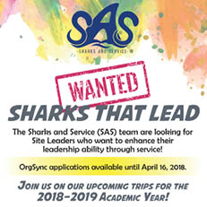 Wanted: Sharks That Lead