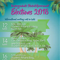 Undergraduate Student Government Elections 2018