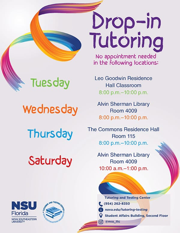 Drop-In Tutoring
