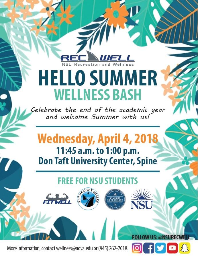 Hello Summer Wellness Bash
