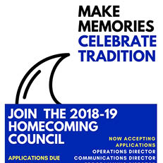 2018 Homecoming Council Applications