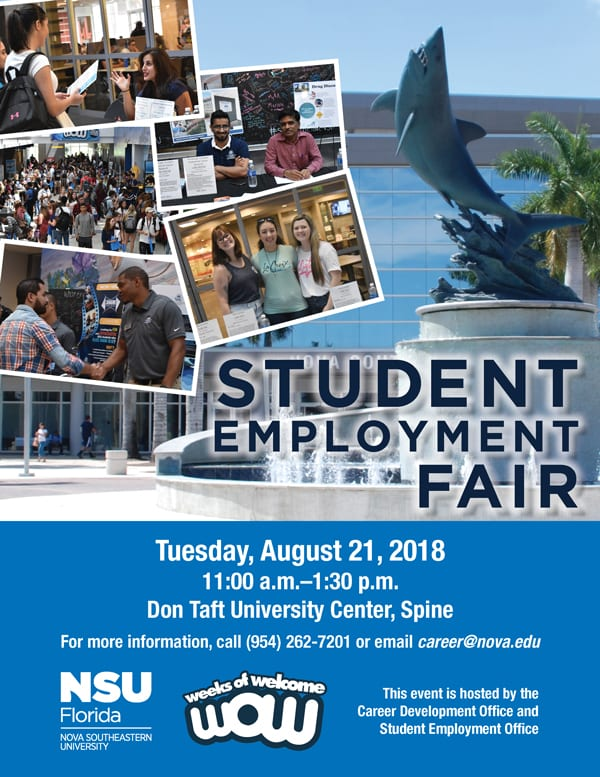 Student Employment Fair Fall 2018