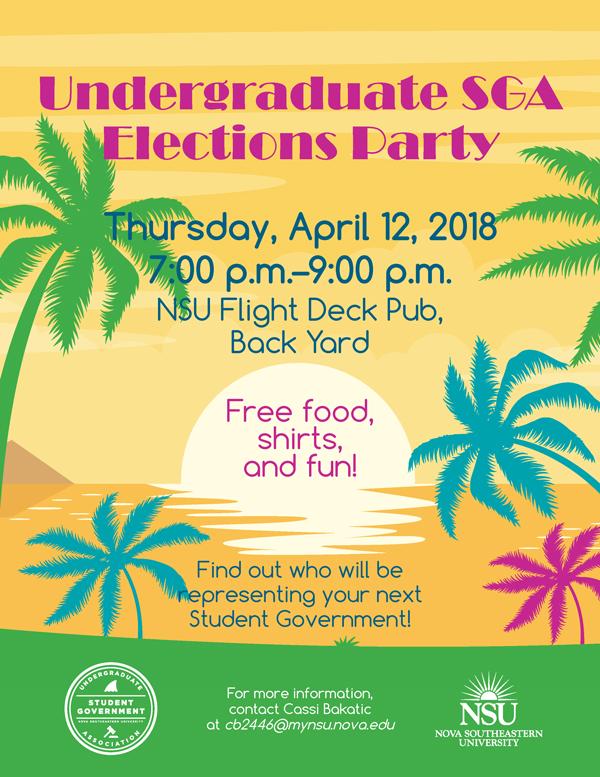Undergraduate SGA Elections Party