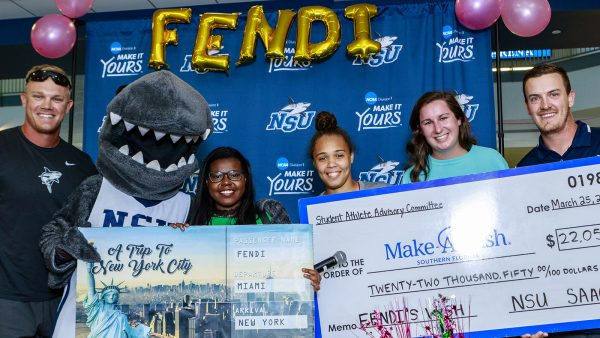 NSU Rolls Out Red Carpet for Memorable Make-A-Wish Reveal