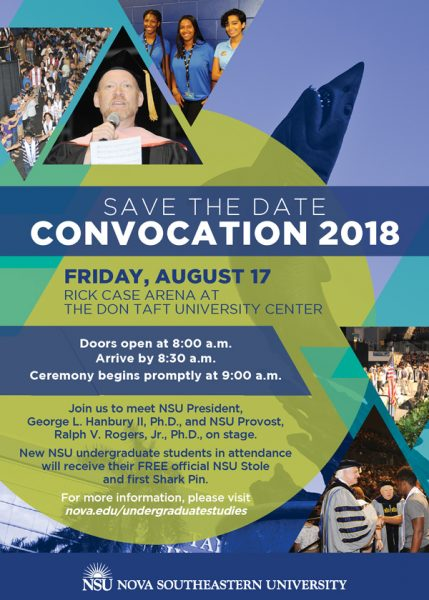 Convocation: Save the Date - Aug. 17, 2018