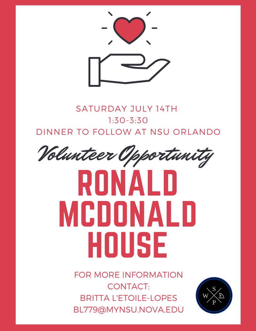 Volunteer Opportunity: Ronald McDonald House